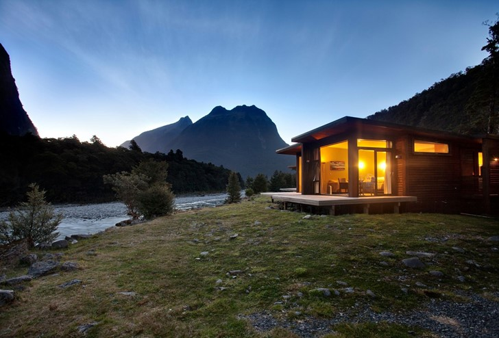 Premium Riverside Chalet at Milford Sound, Fiordland, New Zealand