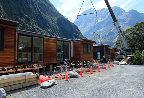 Moving the chalet accommodation to the Milford Sound Lodge in November 2018.
